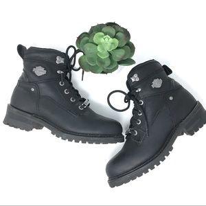 Harley Davidson Glenn Leather Black Boots